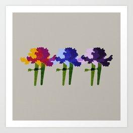 colorful iris screen print design Art Print