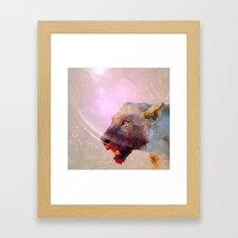 Feast of the Low Poly Lion Pride Framed Art Print