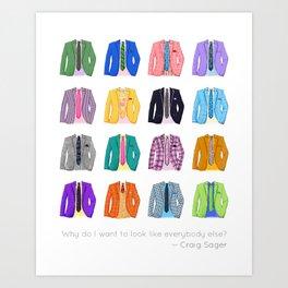Craig Sager's Closet Art Print