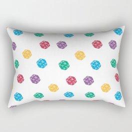 Mana Spin-downs - Red, Yellow, Green, Blue & Purple Rectangular Pillow