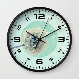 White Cherry Blossom bokeh Wall Clock