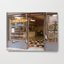 The Lonely Carniceria, Montserrat, Buenos Aires Metal Print