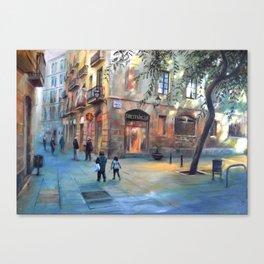 Urbanscape of Barcelona Canvas Print