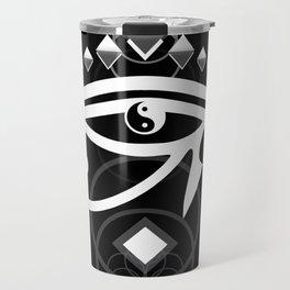 Eye Of Horus (Yin Yang Crest) Travel Mug