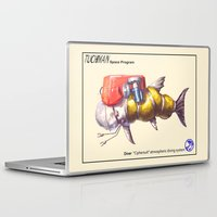 diver Laptop & iPad Skins featuring Diver by Uri Tuchman
