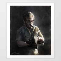marc Art Prints featuring Marc Maron by Pavel Sokov