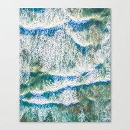 Aerial choppy waves Canvas Print