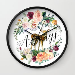 Always - Fawn Wall Clock