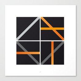 minimal arancio Canvas Print