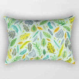 Leaves floating in the water Rectangular Pillow