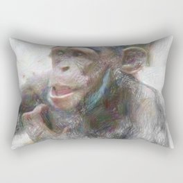 Artistic Animal Young Chimp Rectangular Pillow
