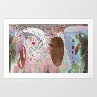 Ovoidal Abstract Art Print