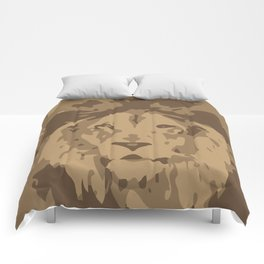 lion-y camo Comforters