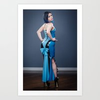Blu in blue latex Art Print