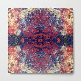 Darun - Abstract Boho Chic Tie-Dye Style Mandala Art Metal Print