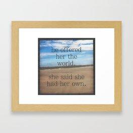 world Framed Art Print