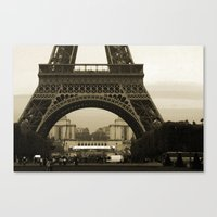 eiffel Canvas Prints featuring Eiffel by Shannon McCullough-Wight
