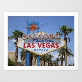 Las Vegas Welcome Sign Art Print