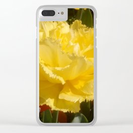Sunny Yellow Tulip Clear iPhone Case