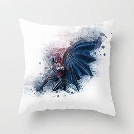 Steampunk Fairy Angel Throw Pillow