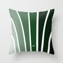 Kirovair Art Deco Green #minimal #art #design #kirovair #buyart #decor #home Throw Pillow
