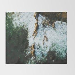 OCEAN - SEA - WATER - ROCKS - PHOTOGRAPHY Throw Blanket