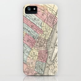 Vintage Map of Albany NY (1874)  iPhone Case