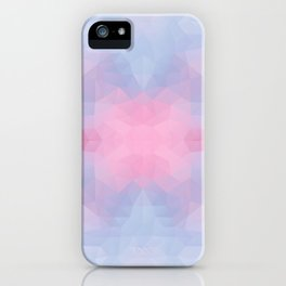 Kaleidoscopic design in soft colors iPhone Case