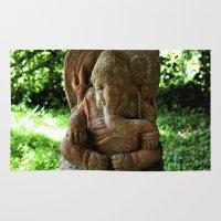 ganesha Area & Throw Rugs featuring Ganesha. by th3dr4k3n