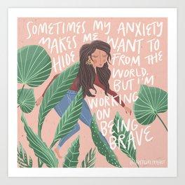 Dear Anxiety Art Print