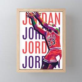 Jordan Framed Mini Art Print