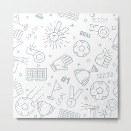 Soccer (football) pattern Metal Print
