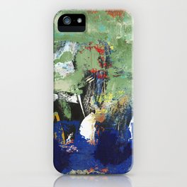 Finback Abstract Blue Green iPhone Case