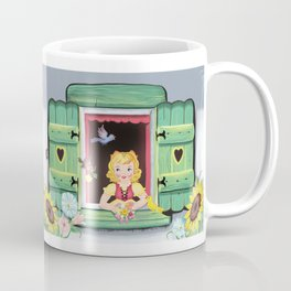 Even The Birds Bring Her Pretty Flowers Coffee Mug