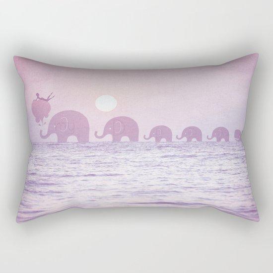 Elephants - a dream walk Rectangular Pillow