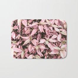#Pink Foliage #nature #abstract Bath Mat