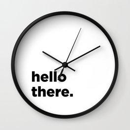 Baesic Hello There Wall Clock
