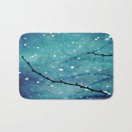 Winter Snow Branches  Bath Mat