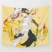 oz Wall Tapestries featuring 素戔男 - SUSANOO by kasi minami
