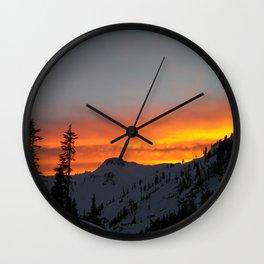 Fire Mountain Wall Clock