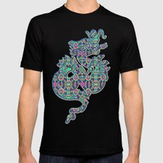Autumn Roses SMALL Black Mens Fitted Tee
