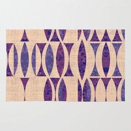 Seventies violet Pattern Rug