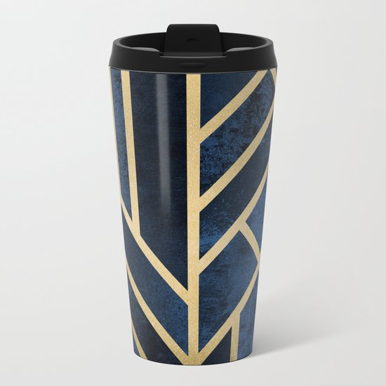 Art Deco Midnight Metal Travel Mug