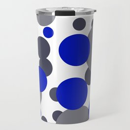 Bubbles blue grey- white design Travel Mug