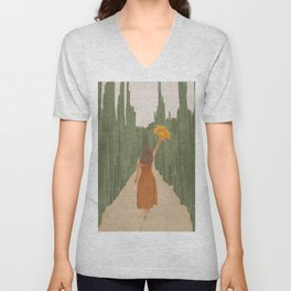 A Way Through the Cactus Field Unisex V-Neck