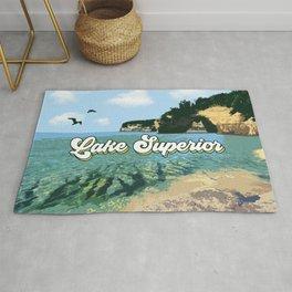 Lake Superior Retro Rug