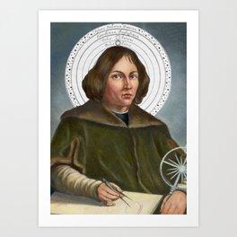 Nicolaus Copernicus Solar System Art Print