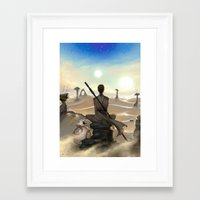starwars Framed Art Prints featuring StarWars - Rey by Sonia MS