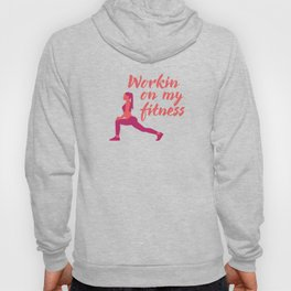 Women Yoga Poses Pink & Green Hoody