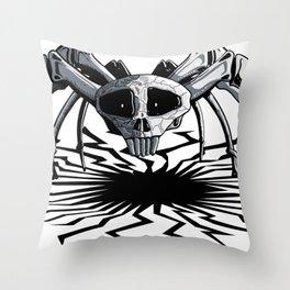 Skull Spider Throw Pillow